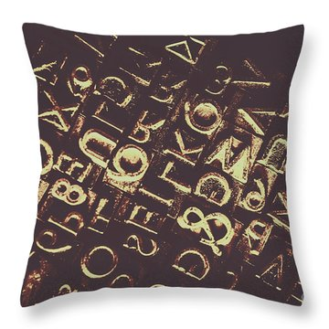 Antique Enigma Code Throw Pillow