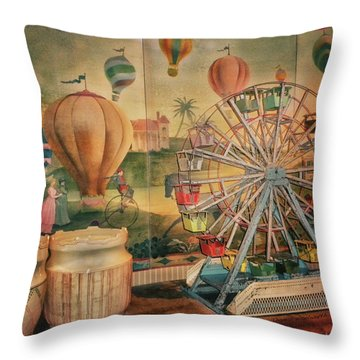 Antique Ferris Wheel Walt Disney World Mp Throw Pillow