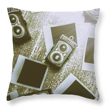 Antique Film Photography Fun Throw Pillow