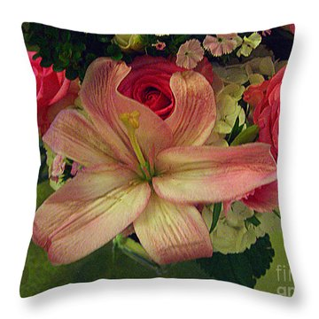 Antique Floral Masterpiece Throw Pillow