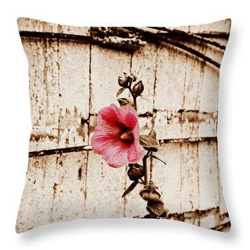 Antique Flower Throw Pillow by Julie Hamilton