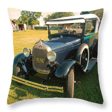 Antique Ford Car Throw Pillow