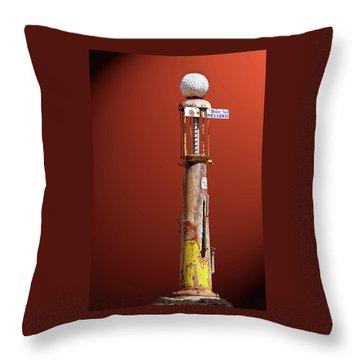 Antique Gas Pump Throw Pillow