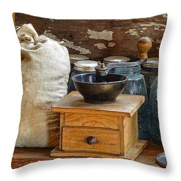 Antique Grinder Throw Pillow