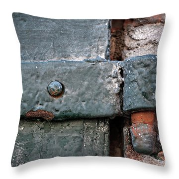 Throw Pillow featuring the photograph Antique Hinge by Elena Elisseeva