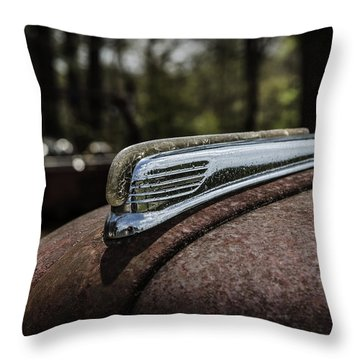 Throw Pillow featuring the photograph Antique Hood Ornament by Kim Hojnacki