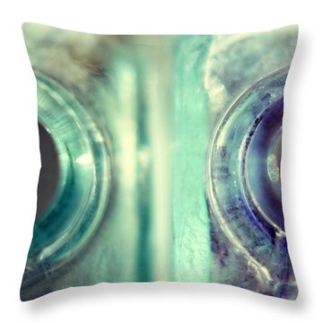 Throw Pillow featuring the photograph Antique Inkwells by Amy Tyler
