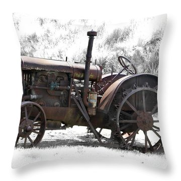 Antique Iron Horse Throw Pillow