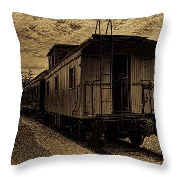 Antique Iron Range Caboose Throw Pillow