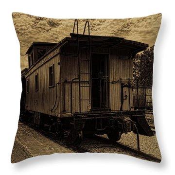 Antique Iron Range Caboose Throw Pillow
