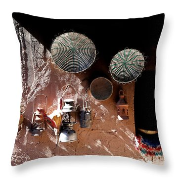 Throw Pillow featuring the photograph Antique Lanterns by Andrew Fare