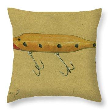 Antique Lure Throw Pillow
