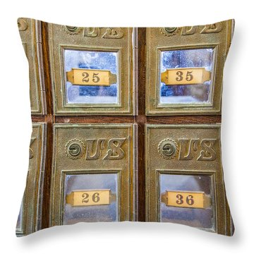 Antique Mailbox Color Throw Pillow