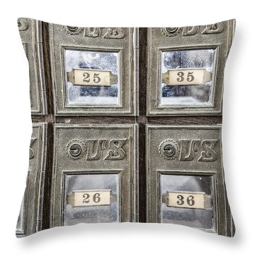 Antique Mailbox Throw Pillow