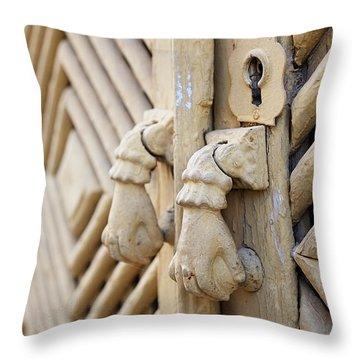 Antique Mediterranean Door-knocker Throw Pillow