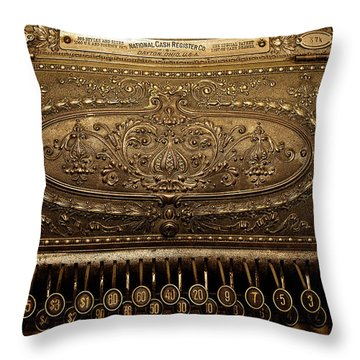 Antique Ncr Throw Pillow by Christopher Holmes