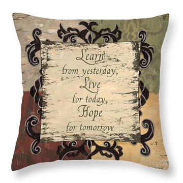 Antique Patchwork Inspirational Throw Pillow