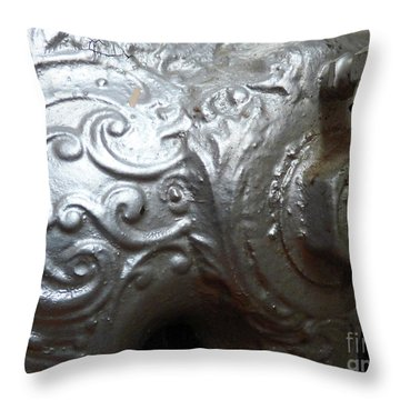 Antique Radiator Close-up Throw Pillow