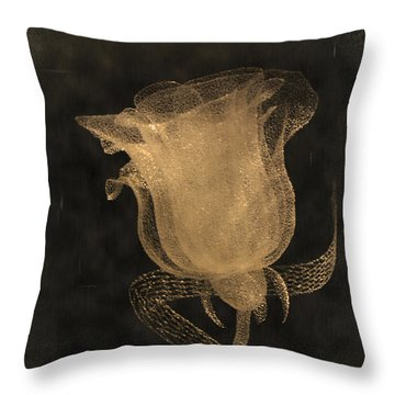 Antique Rose Of Glass Throw Pillow