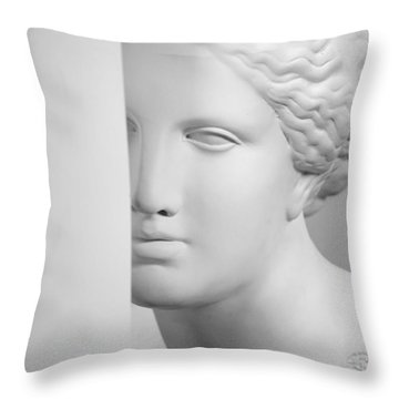 Throw Pillow featuring the photograph Antique Sculpture by Andrey  Godyaykin
