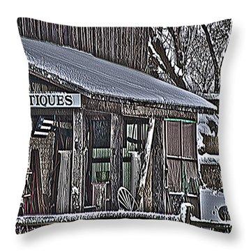 Throw Pillow featuring the photograph Antique Shack by Deborah Klubertanz