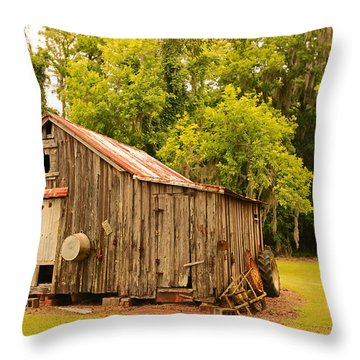 Antique Shed Throw Pillow