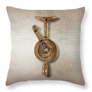 Antique Shoulder Drill Front Side Throw Pillow