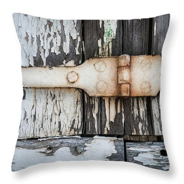 Throw Pillow featuring the photograph Antique Shutter Detail by Elena Elisseeva