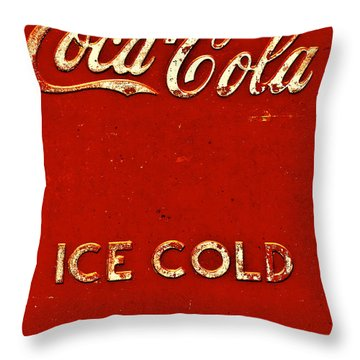 Antique Soda Cooler 6 Throw Pillow