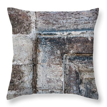 Throw Pillow featuring the photograph Antique Stone Wall Detail by Elena Elisseeva