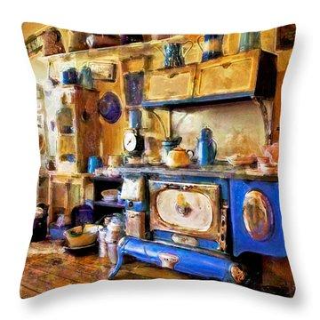 Antique Store Kitchen Throw Pillow