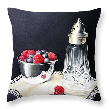 Antique Sugar Shaker Throw Pillow by Brenda Brown