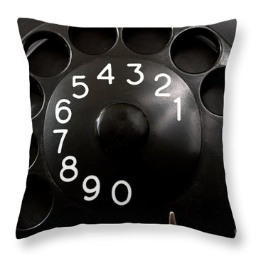 Throw Pillow featuring the photograph Antique Telephone Dial by Gunter Nezhoda