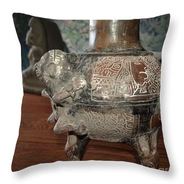 Antique Vase Throw Pillow by Philip Bracco
