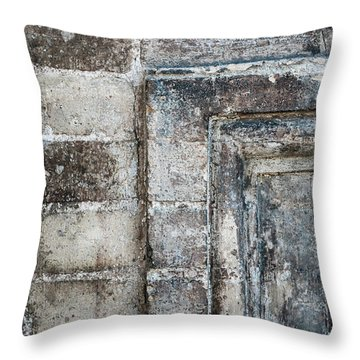 Throw Pillow featuring the photograph Antique Wall Detail by Elena Elisseeva