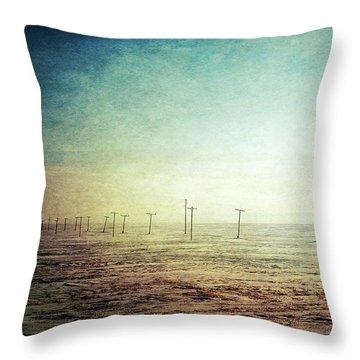 Antique Winter Throw Pillow