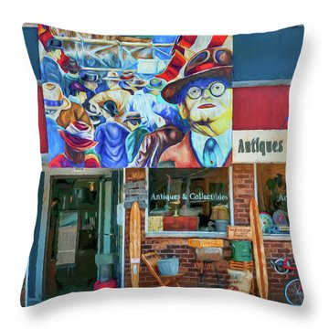 Antiques And Collectibles Throw Pillow by Trey Foerster