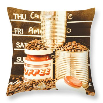 Antiques In The Brewhouse Throw Pillow