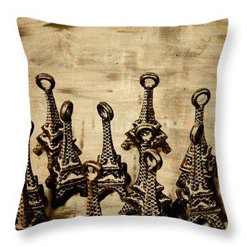 Antiques Of France Throw Pillow