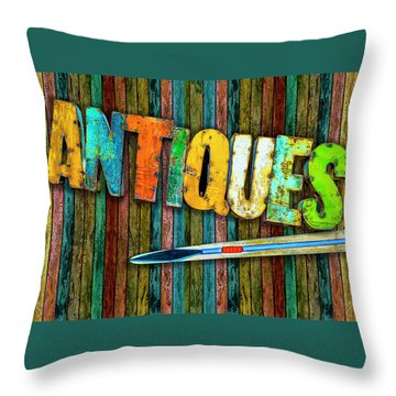 Throw Pillow featuring the photograph Antiques by Paul Wear