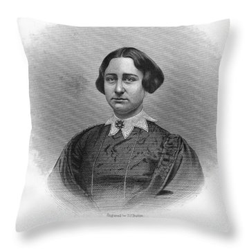 Antoinette Brown Blackwell Throw Pillow by Granger