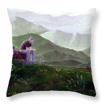 Antonio Atop La Rocca De Monte Calvo Throw Pillow