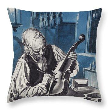 Antonio Stradivari Throw Pillow