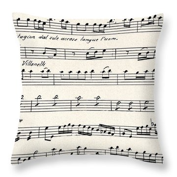 Antonio Vivaldi  The Four Seasons Throw Pillow