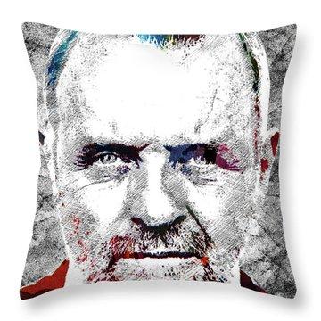 Antony Hopkins Throw Pillow by Mihaela Pater