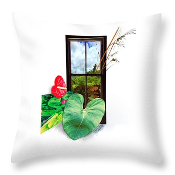 Anthurium 2 Throw Pillow