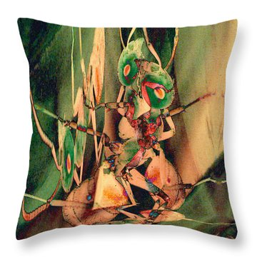 Antsy Lovers Throw Pillow