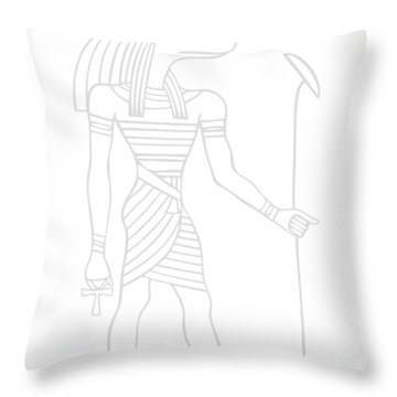 Anubis - God Of Ancient Egypt Throw Pillow