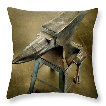 Anvil And Hammer Throw Pillow by YoPedro
