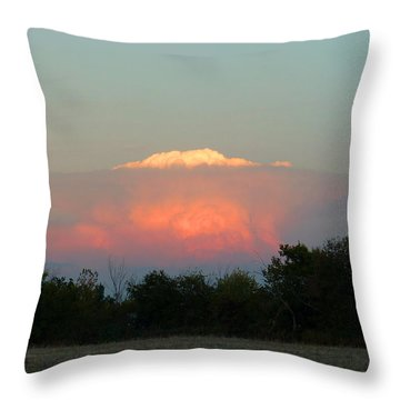 Throw Pillow featuring the digital art Anvil Cloud Over Kirksville, Mo by Jana Russon